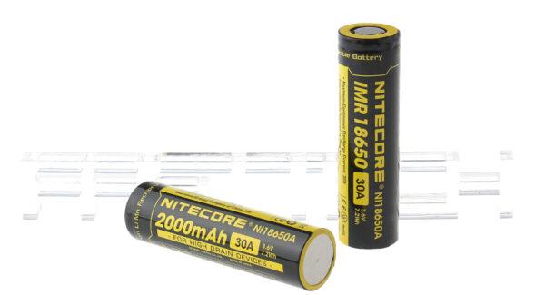 Authentic Nitecore IMR 18650 3.6V 2000mAh Rechargeable Li-Ion Batteries (2-Pack)