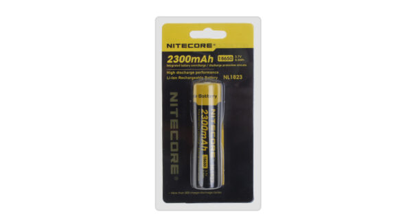 Authentic Nitecore NL1823 18650 2300mAh 3.7V Rechargeable Li-Ion Battery
