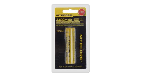 Authentic Nitecore NL1834 18650 3400mAh 3.7V Rechargeable Li-Ion Battery