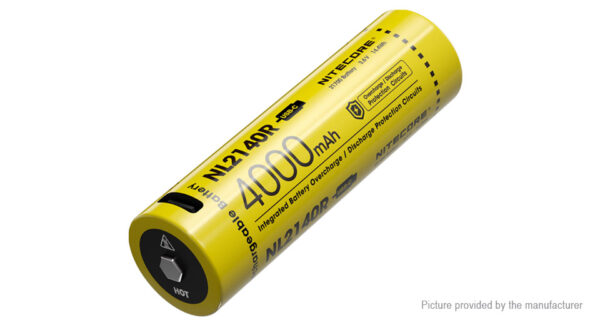 Authentic Nitecore NL2140R 21700 3.6V 4000mAh Rechargeable Li-ion Battery