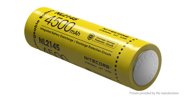 Authentic Nitecore NL2145 21700 3.6V 4500mAh Rechargeable Li-ion Battery