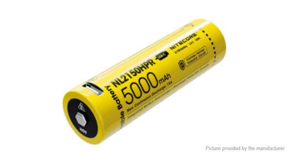 Authentic Nitecore NL2150HPR 21700 3.6V 5000mAh Rechargeable Li-ion Battery