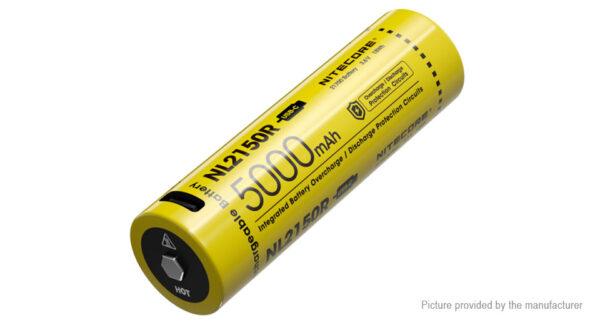Authentic Nitecore NL2150R 21700 3.6V 5000mAh Rechargeable Li-ion Battery