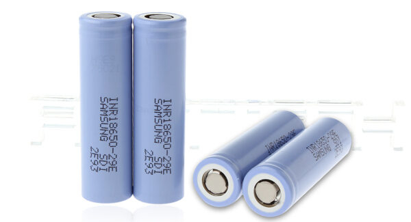"Authentic Samsung INR 18650-29E 3.7V ""2900mAh"" Rechargeable Li-ion Battery (4-Pack)"