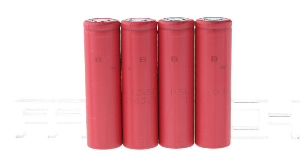 Authentic Sanyo 18650 3.7V 2600mAh Rechargeable Li-ion Batteries (4-Pack)