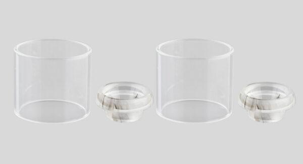 Authentic Skullvape Glass Tank + 810 Drip Tip for GeekVape Zeus Dual (2-Pack)