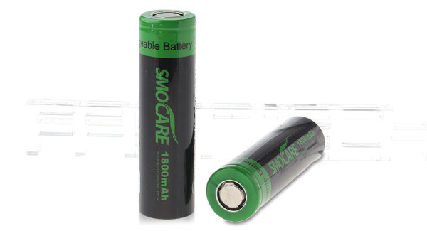 Authentic Smocare ICR 18650 3.7V 1800mAh Rechargeable Li-ion Batteries (2-Pack)