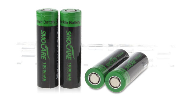 Authentic Smocare ICR 18650 3.7V 1800mAh Rechargeable Li-ion Batteries (4-Pack)