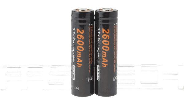 Authentic Soshine 18650 3.7V 2600mAh Rechargeable Li-ion Battery (2-Pack)