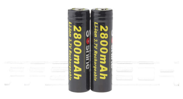Authentic Soshine 18650 3.7V 2800mAh Rechargeable Li-ion Batteries (2-Pack)
