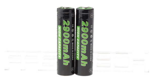 "Authentic Soshine 18650 3.7V ""2900mAh"" Rechargeable Li-ion Batteries (2-Pack)"