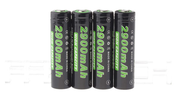 "Authentic Soshine 18650 3.7V ""2900mAh"" Rechargeable Li-ion Batteries (4-Pack)"