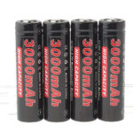 "Authentic Soshine 18650 3.7V ""3000mAh"" Rechargeable Li-ion Batteries (4-Pack)"