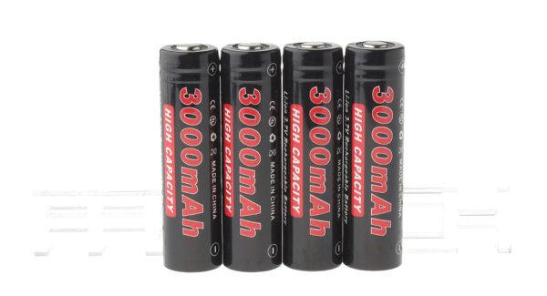 "Authentic Soshine 18650 3.7V ""3000mAh"" Rechargeable Li-ion Batteries (4-Pack)"