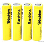 Authentic Soshine ICR 18650 3.7V 3400mAh Rechargeable Li-ion Battery (4-Pack)