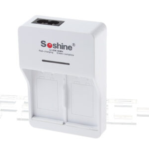 Authentic Soshine SC-V1 2-Slot Li-ion / Ni-MH Battery Smart Charger Set