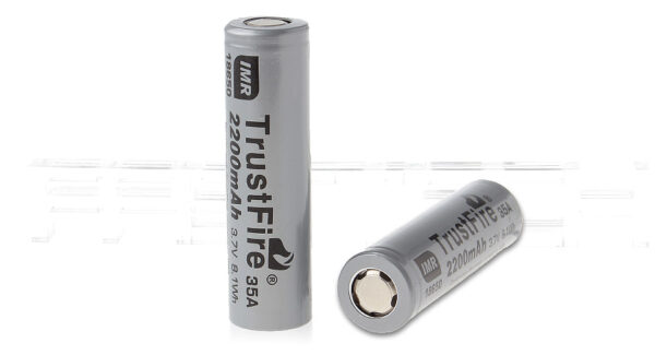 Authentic TrustFire IMR 18650 3.7V 2200mA Rechargeable Li-ion Batteries (2-Pack)