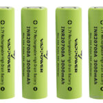 "Authentic VAPPOWER 20700 3.7V ""3000""mAh Rechargeable Li-Ion Battery (4-Pack)"