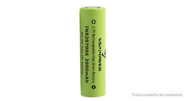 "Authentic VAPPOWER 20700 3.7V ""3000""mAh Rechargeable Li-Ion Battery"