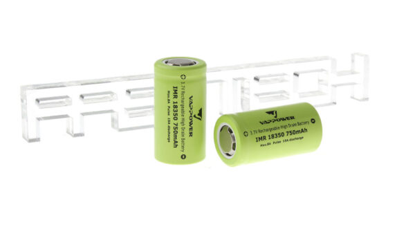 Authentic VAPPOWER IMR 18350 3.7V 750mAh Rechargeable Li-Ion Batteries (2-Pack)