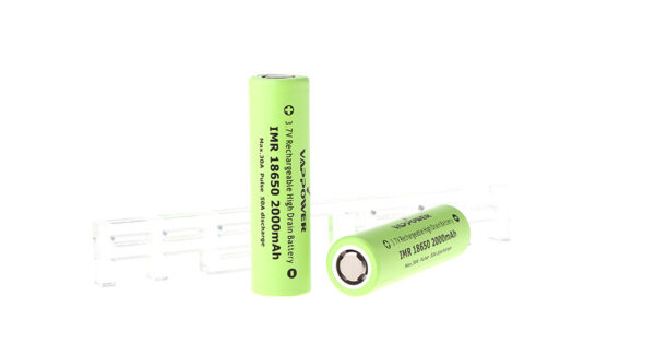 Authentic VAPPOWER IMR 18650 3.7V 2000mAh Rechargeable Li-Ion Batteries (2-Pack)