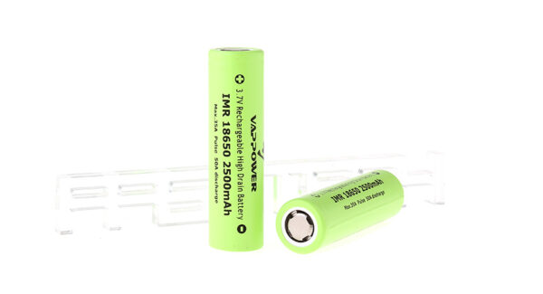 Authentic VAPPOWER IMR 18650 3.7V 2500mAh Rechargeable Li-Ion Batteries (2-Pack)