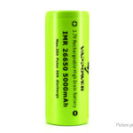 "Authentic VAPPOWER IMR 26650 3.7V ""5000""mAh Rechargeable Li-Ion Battery"
