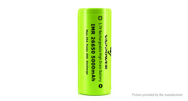 """Authentic VAPPOWER IMR 26650 3.7V """"5000""""mAh Rechargeable Li-Ion Battery"""