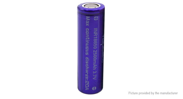 Authentic Vapcell 18650 3.7V 2500mAh Rechargeable Li-ion Battery