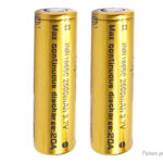 Authentic Vapcell INR 18650 3.7V 2600mAh Rechargeable Li-ion Battery (2-Pack)