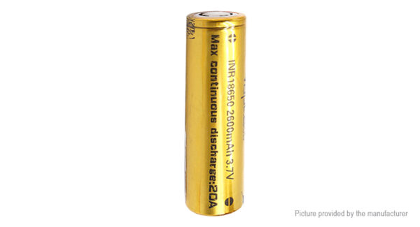 Authentic Vapcell INR 18650 3.7V 2600mAh Rechargeable Li-ion Battery