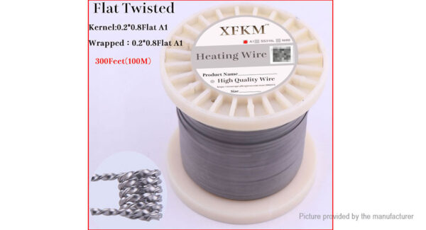 Authentic XFKM Kanthal A1 Flat Twisted Heating Wire