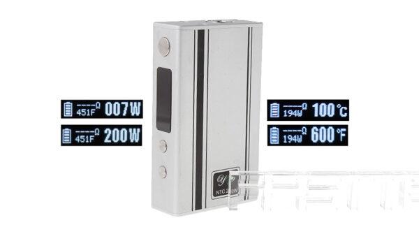 Authentic YEP NTC 200W TC VW Variable Wattage APV Box Mod