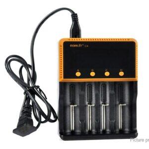 BORUiT C4 4-Slot Intelligent Battery Charger (US)