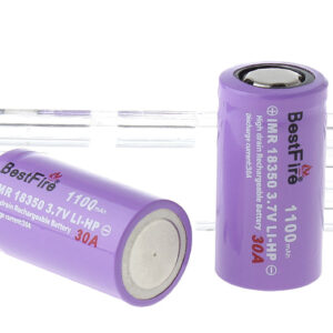 "BestFire IMR 18350 3.7V ""1100mAh"" Rechargeable Li-MP Batteries (2-Pack)"