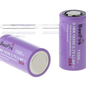 "BestFire IMR 18350 3.7V ""1500mAh"" Rechargeable Li-MP Batteries (2-Pack)"