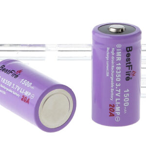 "BestFire IMR 18350 3.7V ""1500mAh"" Rechargeable Mi-MP Batteries (2-Pack)"
