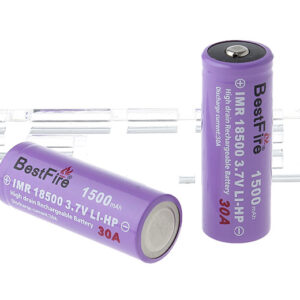 "BestFire IMR 18500 3.7V ""1500mAh"" Rechargeable Li-HP Batteries (2-Pack)"