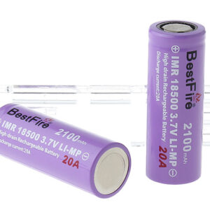"BestFire IMR 18500 3.7V ""2100mAh"" Rechargeable Li-MP Batteries (2-Pack)"