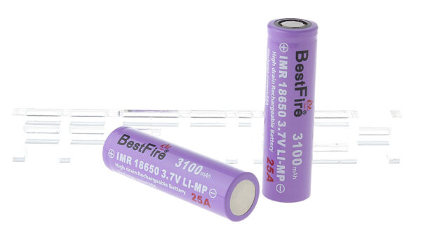 "BestFire IMR 18650 3.7V ""3100mAh"" Rechargeable Li-MP Batteries (2-Pack)"