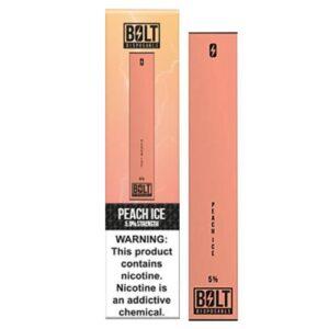 Bolt - Disposable Vape Device - Peach Ice - Single / 0mg