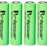 Brillipower IMR 18650 3.7V 3100mAh Rechargeable Li-Ion Battery (4-Pack)