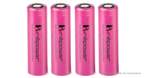 Brillipower IMR 18650 3.7V 3500mAh Rechargeable Li-Ion Battery (4-Pack)