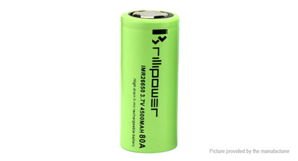 Brillipower IMR 26650 3.7V 4500mAh Rechargeable Li-Ion Battery
