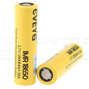 CVEYG IMR 18650 3.7V 2500mAh Rechargeable Li-ion Battery (2-Pack)