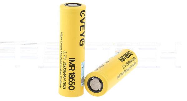 CVEYG IMR 18650 3.7V 2500mAh Rechargeable Li-ion Battery (2-Pack)