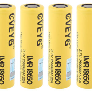 CVEYG IMR 18650 3.7V 2500mAh Rechargeable Li-ion Battery (4-Pack)