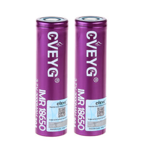 CVEYG IMR 18650 3.7V 3000mAh Rechargeable Li-ion Battery (2-Pack)