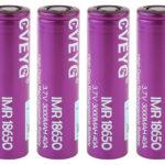 CVEYG IMR 18650 3.7V 3000mAh Rechargeable Li-ion Battery (4-Pack)