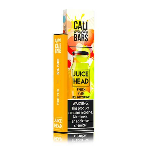 Cali Bars x Juice Head - Disposable Vape Device - Peach Pear - Single / 50mg
